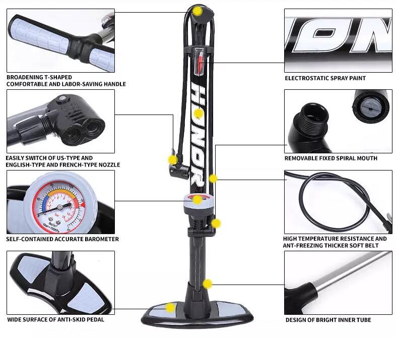 honor floor bicycle pump